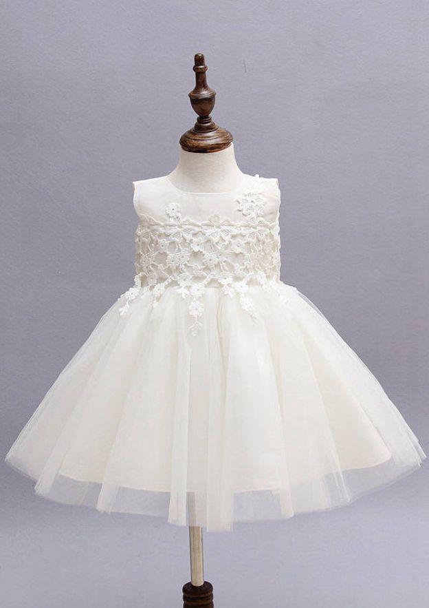 b128bc975f6 Tulle Flower Girl Dress A-Line/Princess Bateau Tea-Length With Bowknot